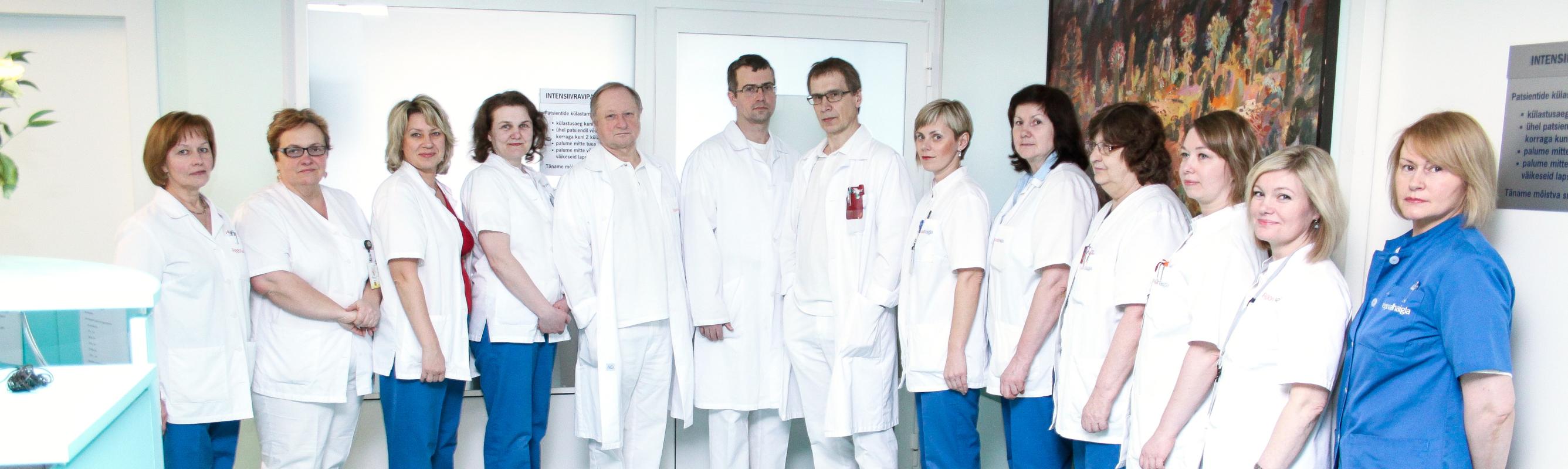 Kardiokirurgia osakonna sõbralik meeskond
