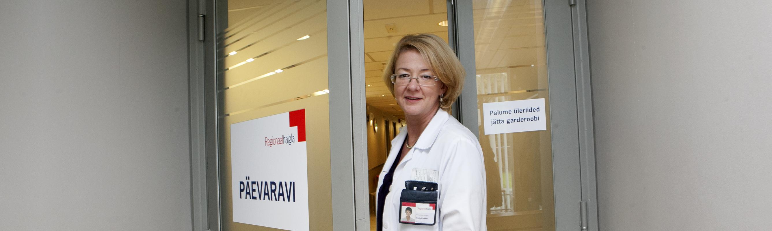 Keemiaravi keskuse juhataja dr Helis Pokker päevaravi osakonnas Mustamäe korpuse I korrusel. Foto: Terje Lepp