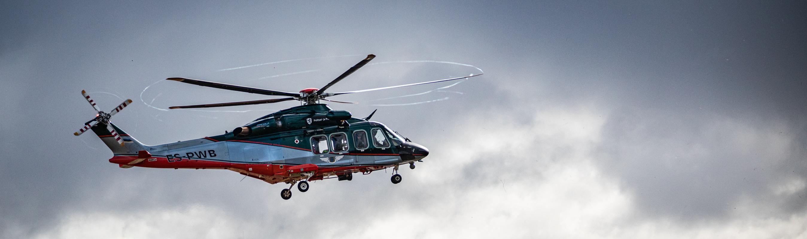 Patsientide transpordiks kasutatakse ka helikopterit