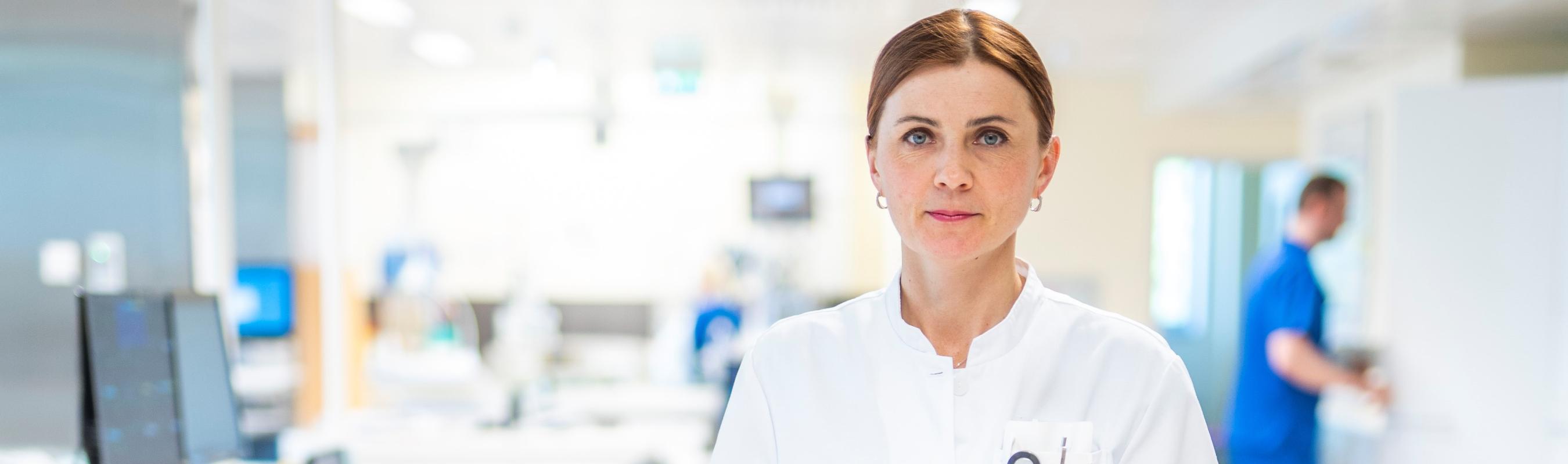 Kardiointensiivravi osakonna juhataja dr Julia Reinmets