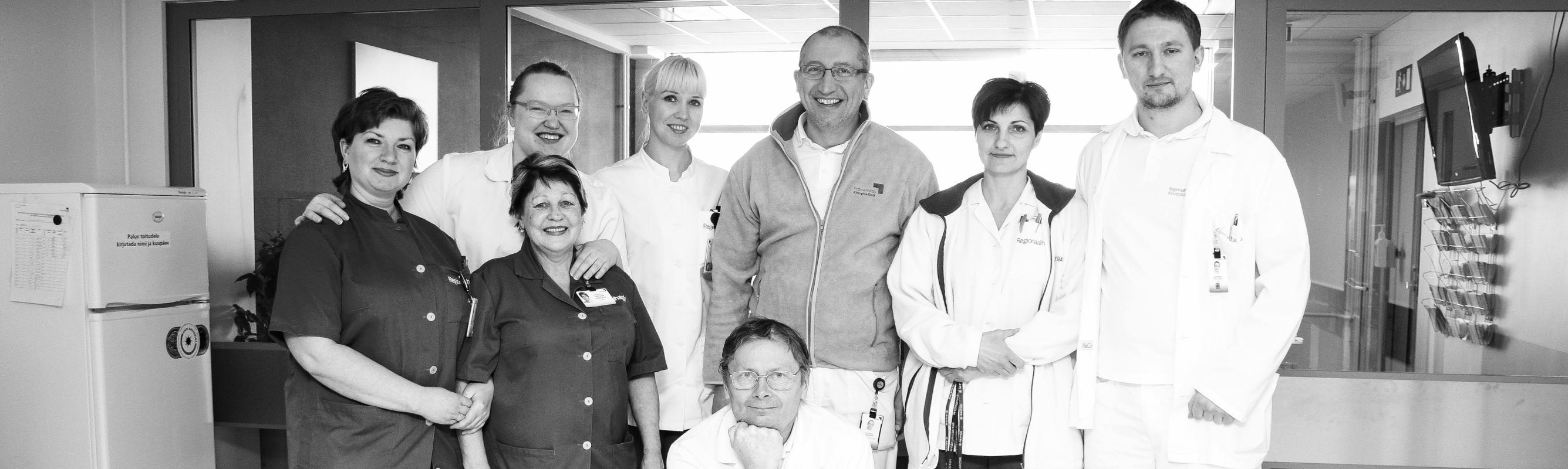 III ortopeedia osakonna rõõmus kollektiiv