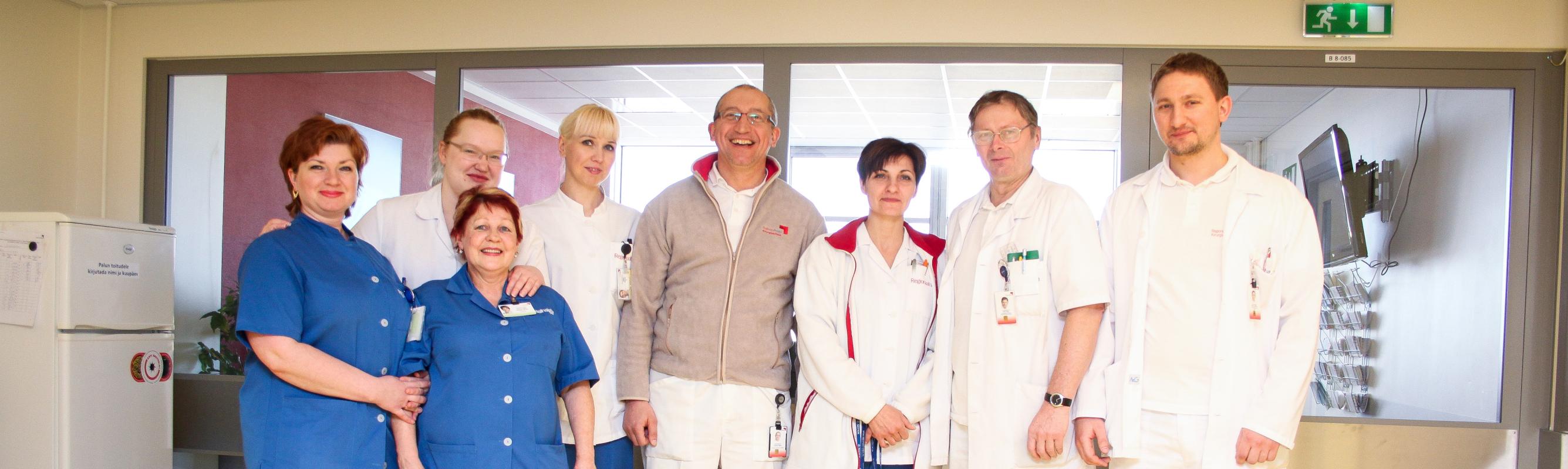 III ortopeedia osakonna sõbralik kollektiiv