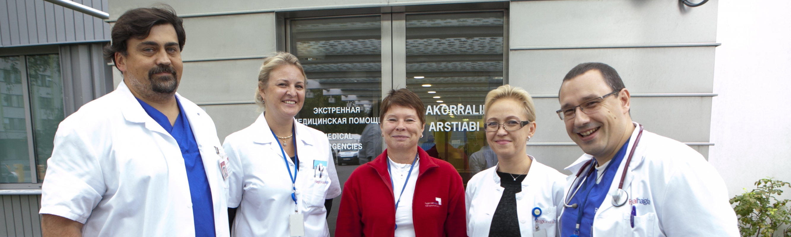 Head of the centre dr Vassili Novaks with centre doctors