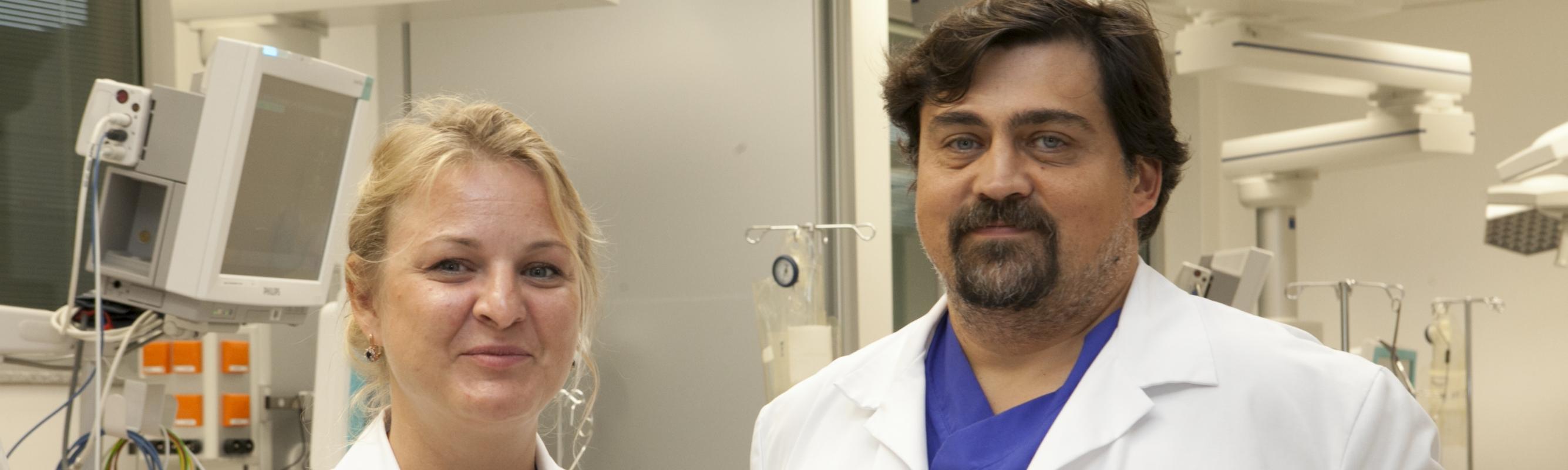 Erakorralise meditsiini osakonna juhataja dr Kristiina Põld ja keskuse juhataja dr Vassili Novak