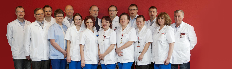 Rindkere- ja veresoontekirurgia osakonna sõbralik meeskond