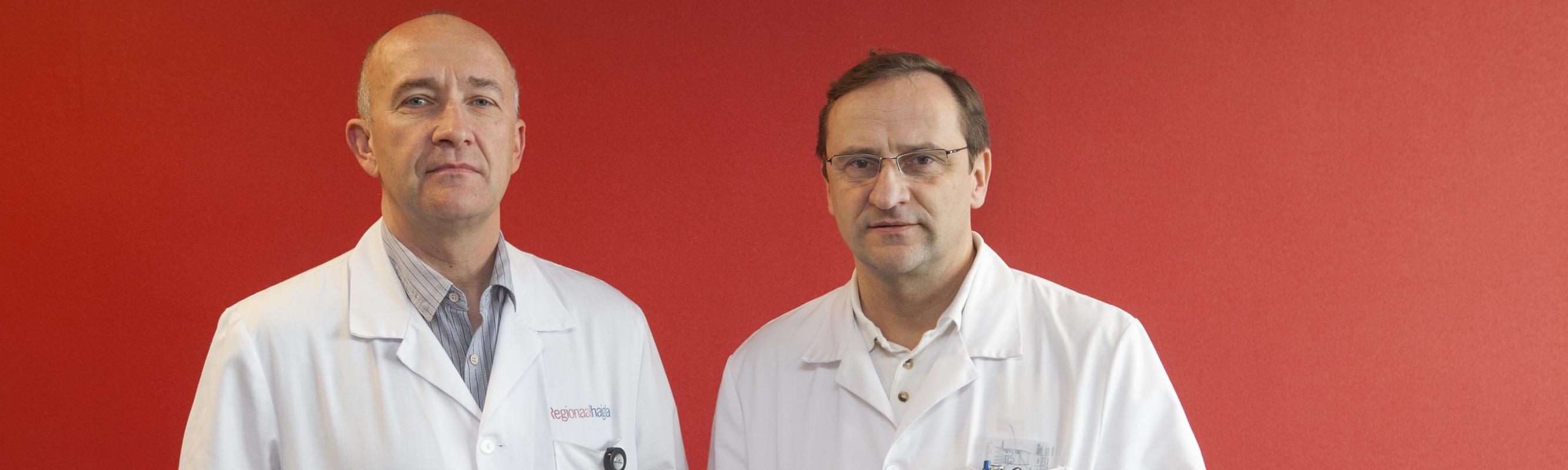 Rindkere- ja veresoontekirurgia osakonna ülemarstid dr Tõnu Vanakesa ja dr Andres Idla