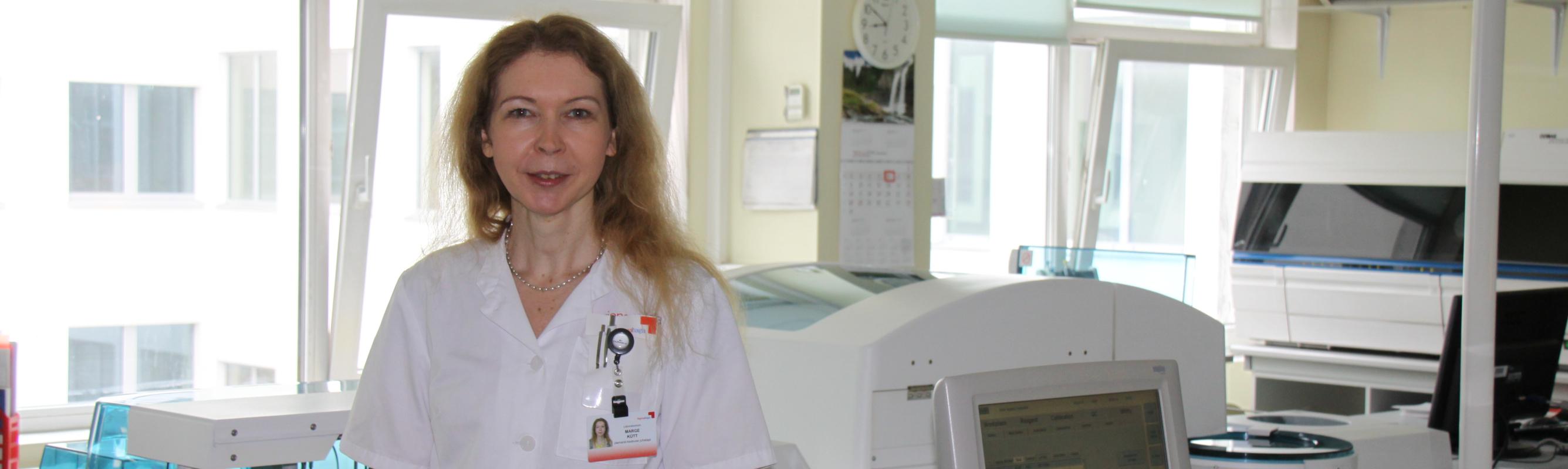 Laboratooriumi juhataja dr Marge Kütt