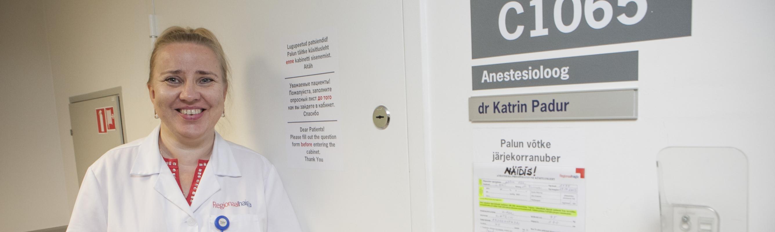 Anestesioloog-ülemarst, anestesioloogiapolikliiniku juhataja dr Pille Sillaste