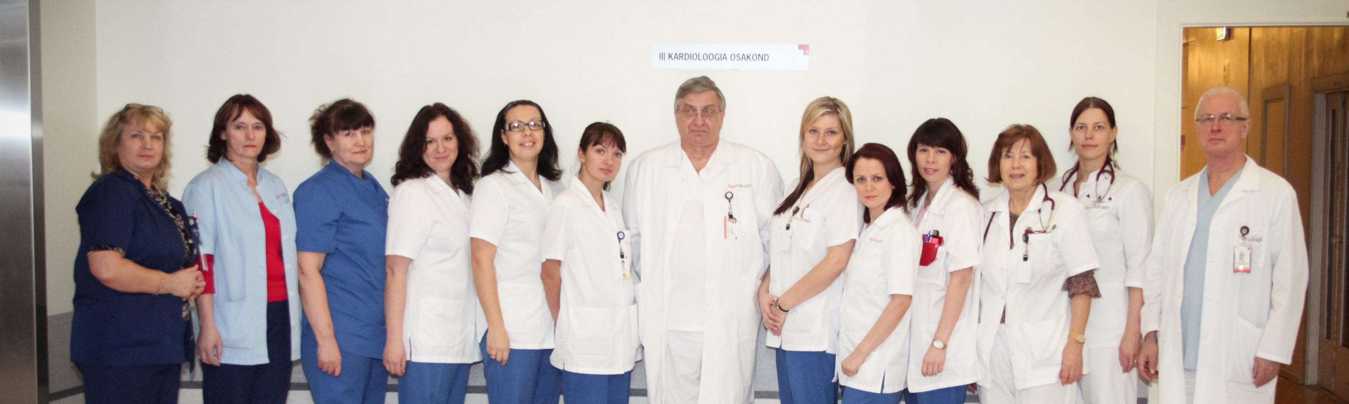 III kardioloogia osakonna töökas kollektiiv