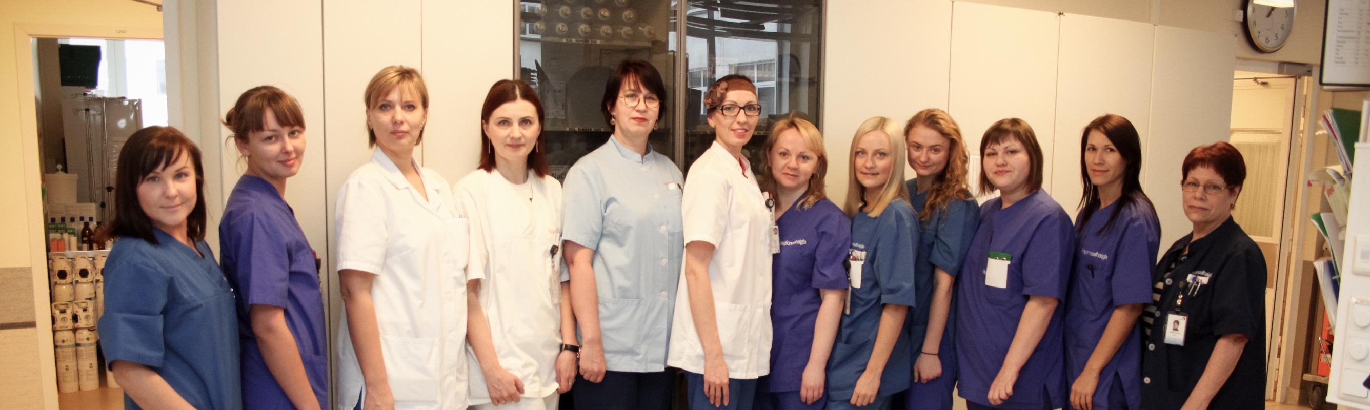Kardiointensiivravi osakonna töökas pere