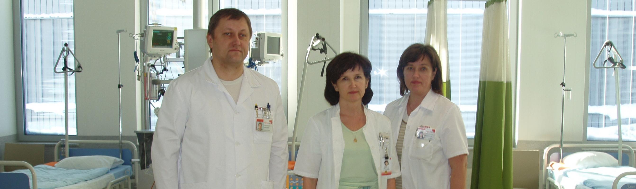 Sisehaiguste arstid dr Leonid Raidjuk, dr Marika Paumets, dr Marianne Laheäär