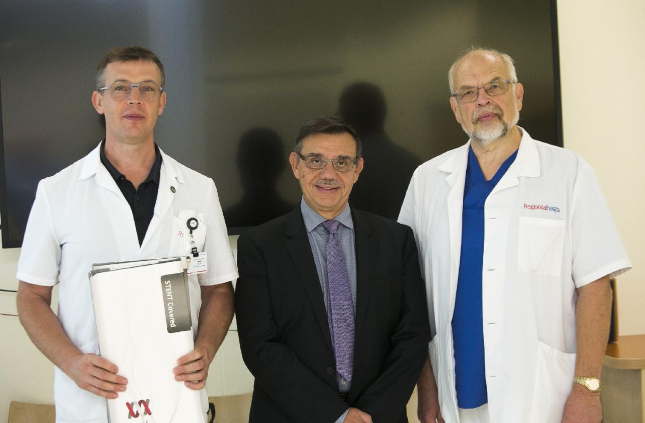 Dr Ilmar Kaur, prof Marc Giovannini ja dr Mart Eisen