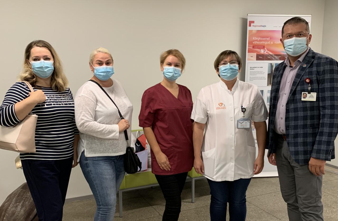 Lääne-Tallinna Keskhaigla õed praktiseerivad Regionaalhaiglas