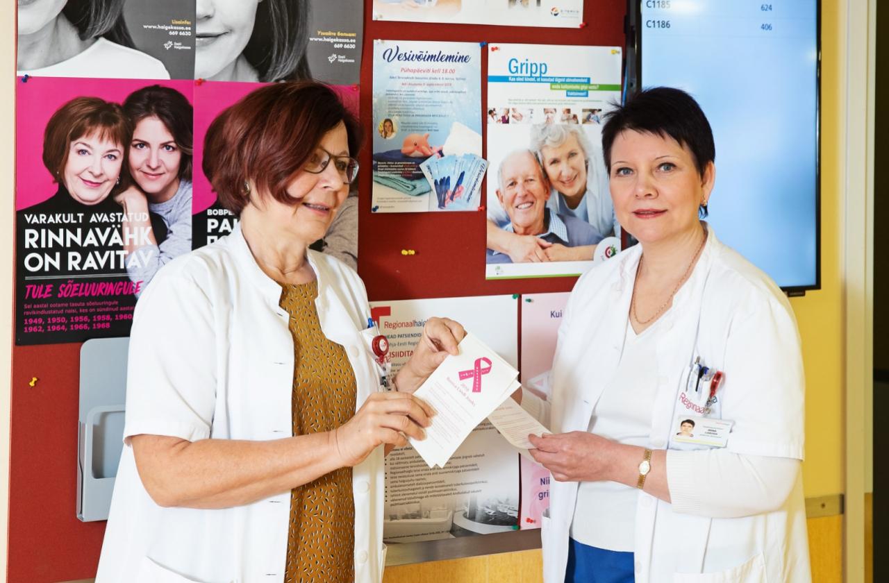 Dr Riina Kütner ja ämmaemand Irina Loboda ootavad naisi Regionaalhaigla rinnakabinetti