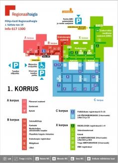 Mustamäe meditsiinilinnaku I korruse skeem
